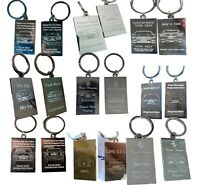 Your Car on Your Keyring - Engraved Outline Front and Back and Registration No.