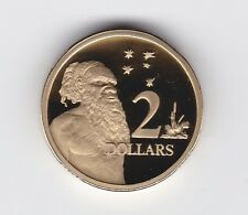 2000 $2 PROOF Coin ex Proof Set Australia Two Dollar Aboriginal Elder
