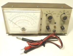 vintage HEATHKIT  VTVM model IM-28  with PROBE ... Tested & Working / ACCURATE