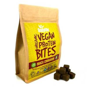 BodyMe Organic Vegan Protein Bites   Raw Maca Cinnamon   500g   100 Bites