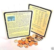 40 Flower And Plant Coins Of The World with Certificate,Story & Holder