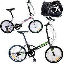 """BICICLETTA PIEGHEVOLE ruota 20"""" folding bike 6 VELOCITA' con borsa da trasporto!"""