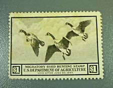 1936 US RW3 Federal Duck Hunting Stamp Mint Hinged No Gum