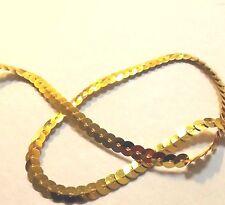 6 metres Light Gold String Sequin Braid LaceTrim Dance Tutu 6 mm#2GD104R