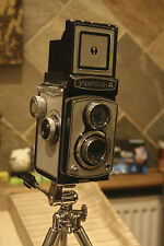 Yashica-A camer and stand