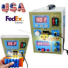 LED Double-Pulse Spot Welder Welding 18650 Battery Charger 800A 0.1-0.2mm Adjust