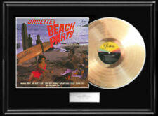 Beach Party Soundtrack Framed Lp Gold Metalized Record Annette Funicello