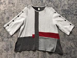 MOONLIGHT ART TO WEAR Asymmetric Tunic Sz. L
