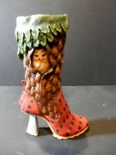 "Just the Right Shoe by Raine 2000 ""Northwoods Owl"" Knee High Boot Euc"