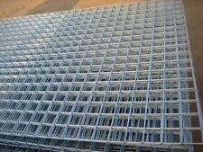 3x Welded Wire Mesh Panels 1.2x2.4m Galvanised 4x8ft Steel Sheet Metal 2 Holes