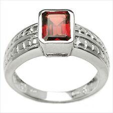 Damen Ring Orelie, 925er Silber, 1,85 Kt. Granat, Gr. 56