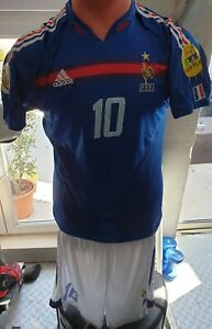 Ensemble Maillot et Short France Euro 2004  Zidane 10 Neuf