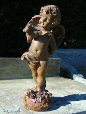 ange avec un papillon statue en fonte pat rouillé ...