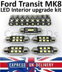 Ford Transit Mk8 2013-2020 Interior LED lighting upgrade inc Headlight H7 Custom
