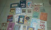 50 DIFFERENT PASSOVER HAGGADAH HAGADOT PRE/POST PALESTINE ISRAEL ART PESAJ BIBLE