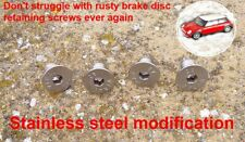 4X Brake Disc Retaining Screw Stainless BMW Mini One Cooper R50 R53 R56 All