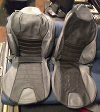 1996 - 2002 BMW Z3 Real Leather Seat Covers Black and Grey / Gray M version