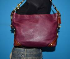 COACH Small Purple Leather 'CARLY' Hobo Sling Tote Purse Shoulder Bag #10615
