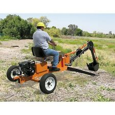 Greyhound Mini Backhoe Excavator Trencher Towable Portable Ride On Digger