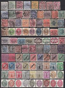 DR Dienstmarken 02 aus den Jahrgängen. 1903- 1933 gestempelt