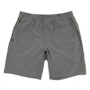 Manduka Thunder Active Yoga Men's Shorts Interior knit mesh boxer liner Grey M