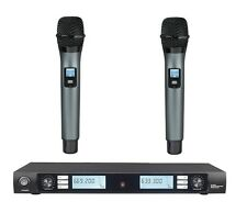 Professional UHF Wireless Vocal System with Dual Dyanmic Handheld Microphone