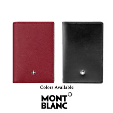 Montblanc Sartorial MB 115848 Red-Black Leather Men Business Card Wallet