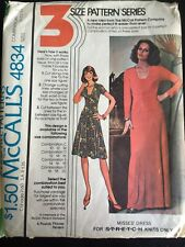 Pattern McCall's 4834, misses' dress for stretch knits, retro 70s, 2 lengths