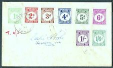 More details for gilbert & ellice islands 1940 postage due set on a cover posted to suva sg.d1/d8