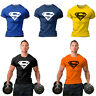 Athletic Men's Muscle Fit Cotton T-Shirt Tee Fitness Bodybuilding Shirt Singket