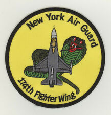 USAF patch 174 Fighter Wing F16C Hancock Field ANGB