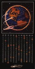 "VINTAGE AD POSTER~Lee Jeans 1982/83 Calendar Globe 10x20"" Original Advertising~"