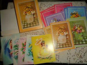 VINTAGE REGENT LINE GINGHAM CHARM GREETING CARDS W/BOX