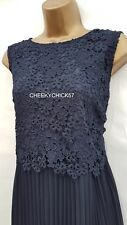 BNWT Monsoon Navy Piper Pleat Dress – Sz 18 - Occasion Wedding Evening Cruise
