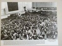 VINTAGE  PHOTO AID THE GREAT DEPRESSION N.Y. STOCK EXCHANGE 1928