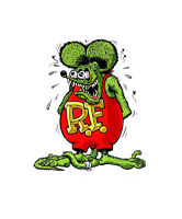 Rat Fink Hot Rod Sticker Vinyl Decal 2-516