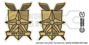 New! Mad Max MFP MAIN FORCE  STICKA- TWIN SET - MFP 0666