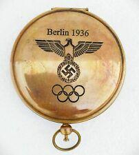 "Solid Brass 3"" Berlin Lid Pocket Compass"