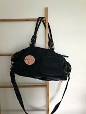 Mimco (lucid) baby bag black with rose gold detail