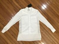 NWT KAUFMANFRANCO 021 Women's White Blouse Shirt Top Size S New