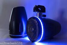 "2pc LED Speaker Rings Rockford Fosgate Marine PM262  PM262B-Wake Drilled 6.5"""