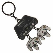 Nintendo 64 Console and Controller Charm Keyring Keychain - Retro Super Mario