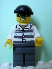 LEGO Minifig cty537 @@ Police Jail Prisoner 86753 Prison Stripes 60047 60086