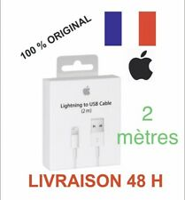 Câble ORIGINAL USB 2m chargeur Apple Lightning pour IPhone 5 6 7 8 X 11 Pro