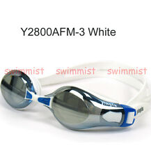 NEW YINGFA Y2800AFM WHITE SWIMMING GOGGLES ANTI-FOG UV PROTECTION CLASSIC STYLE!