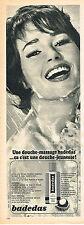 PUBLICITE   1967   BADEDAS   produit douche massage