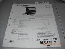 Sony ps-lx55 II Stereo Turntable System giradischi service manual