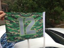 12 Army-Camo Seattle Sea hawk Car Flag