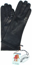 Gloves Leather Ladies RSL Leather Glove Finger Padded Navy dark blue 6,5 S
