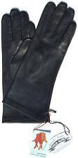 Handschuhe Leder Damen RSL Leather Glove Finger gefüttert Navy Dk.Blau 6,5 S